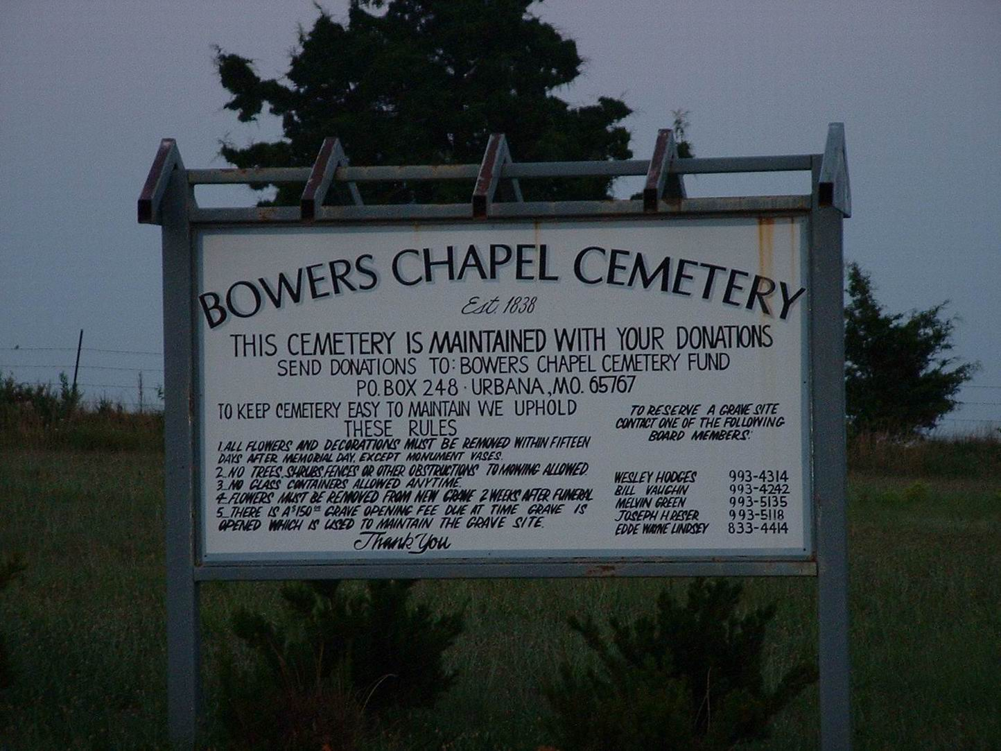 Bowers Chapel Cemetery