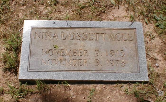 Nina <i>Dossett</i> Agee