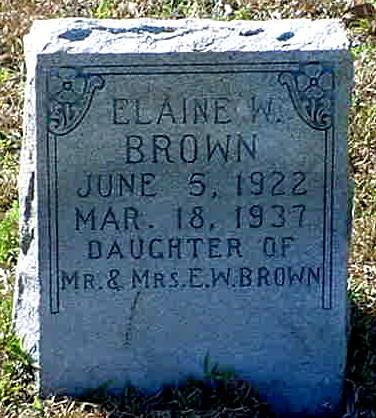 Elaine W Brown