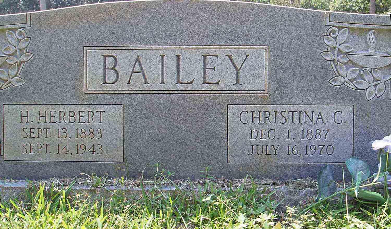 Christina Tina Susan <i>Carter</i> Bailey