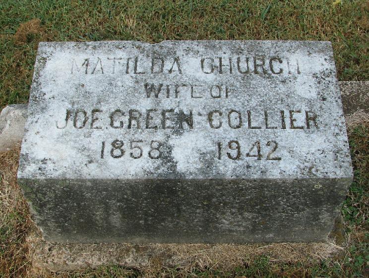 Matilda Carolina <i>Church</i> Collier