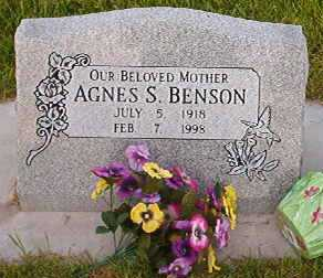 Agnes <i>Shields</i> Benson