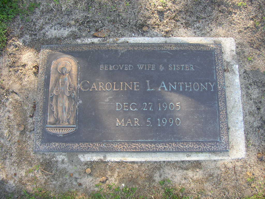 Caroline L Anthony