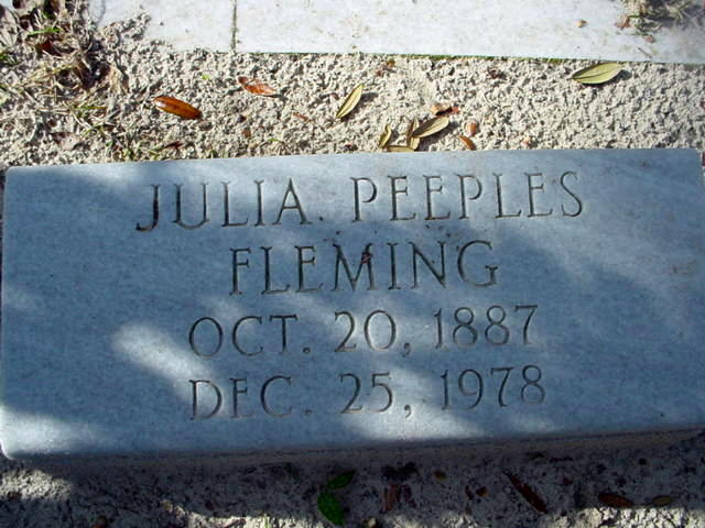 Julia <i>Peeples</i> Fleming