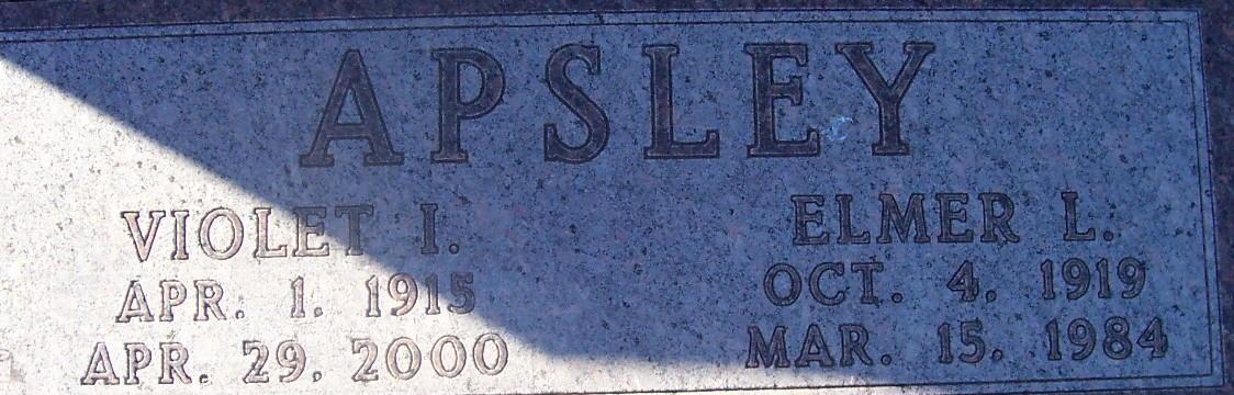 Violet I Apsley
