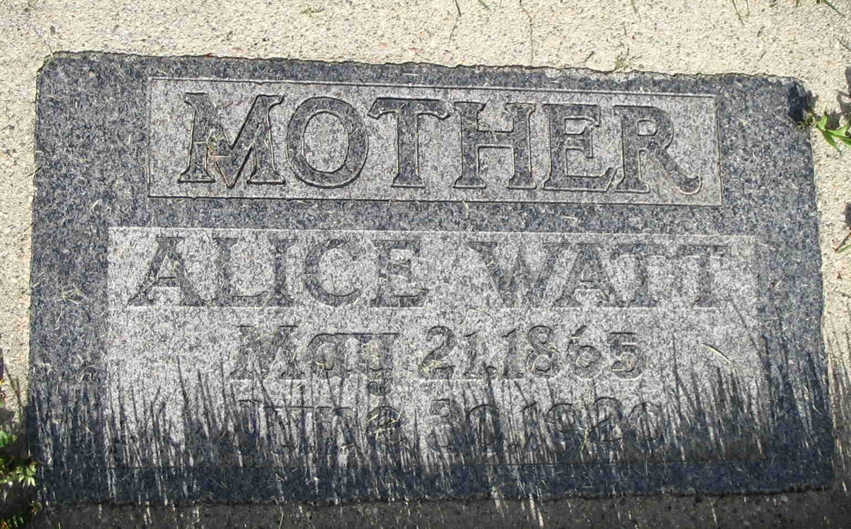 Alice <i>Watt</i> Layton
