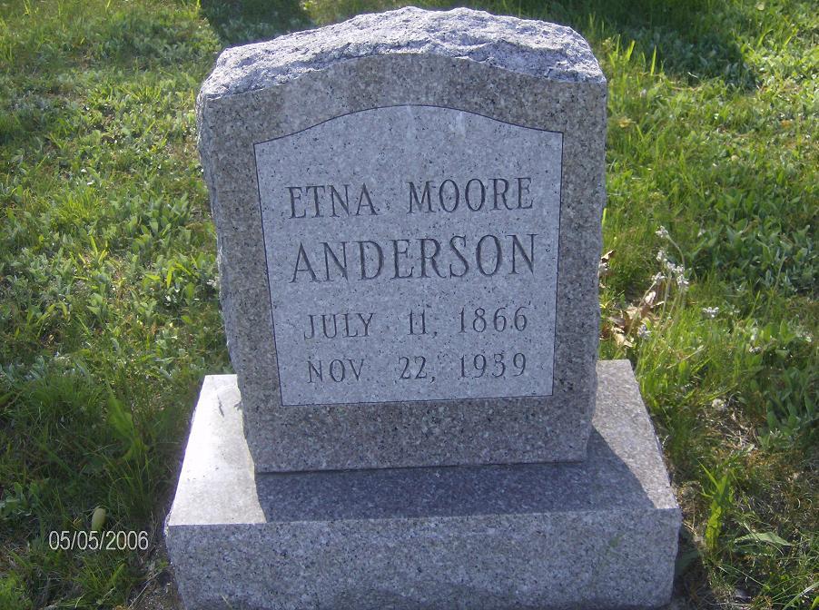 Etna <i>Moore</i> Anderson