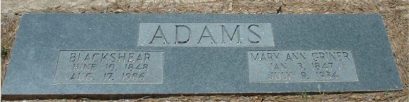 Mary Ann <i>Griner</i> Adams