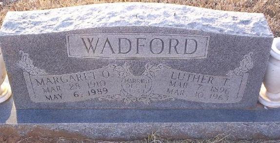 Margaret Ola <i>Matlock</i> Wadford