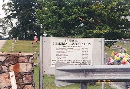 West Jefferson Freewill Baptist Church Cemetery