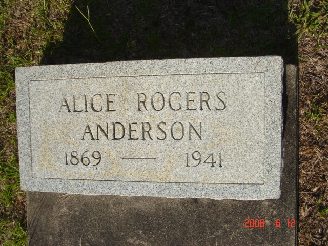 Alice <i>Rogers</i> Anderson