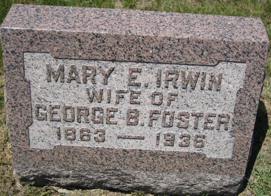 Mary E. <i>Irwin</i> Foster