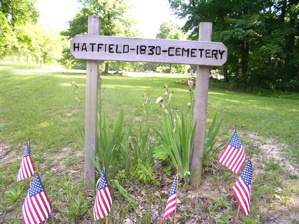 SJF Hatfield Cemetery sign