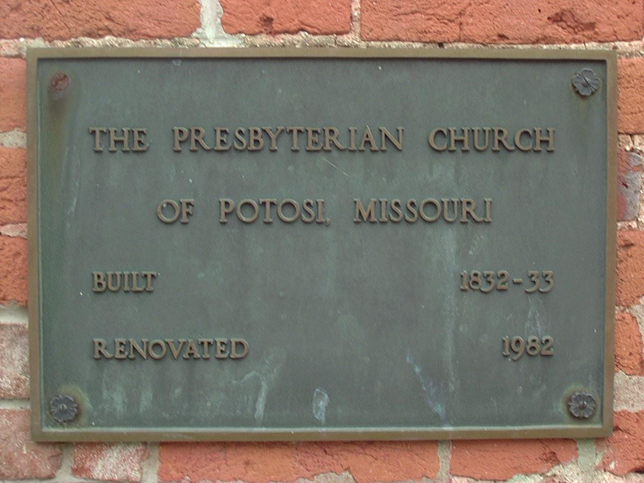 Potosi Presbyterian Cemetery