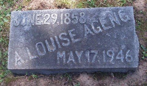 Anna Louise <i>Spangenberg</i> Ageng