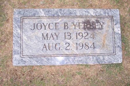 Joyce Evelyn <i>Brown</i> Yerbey