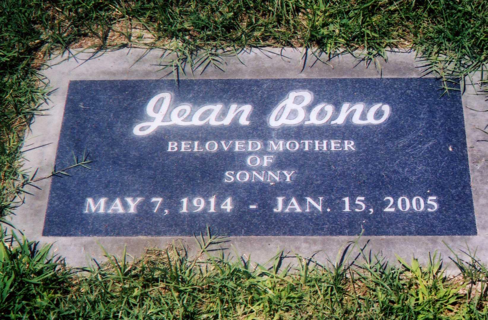 Mrs Zena Jean <i>La Valle</i> Bono