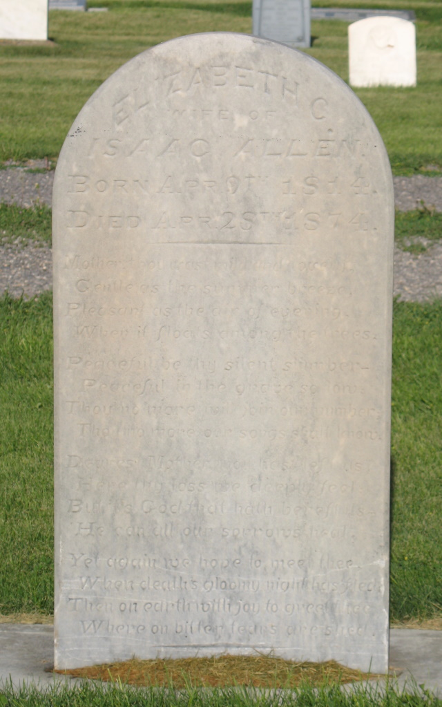 Elizabeth Christiana <i>Siddall</i> Allen