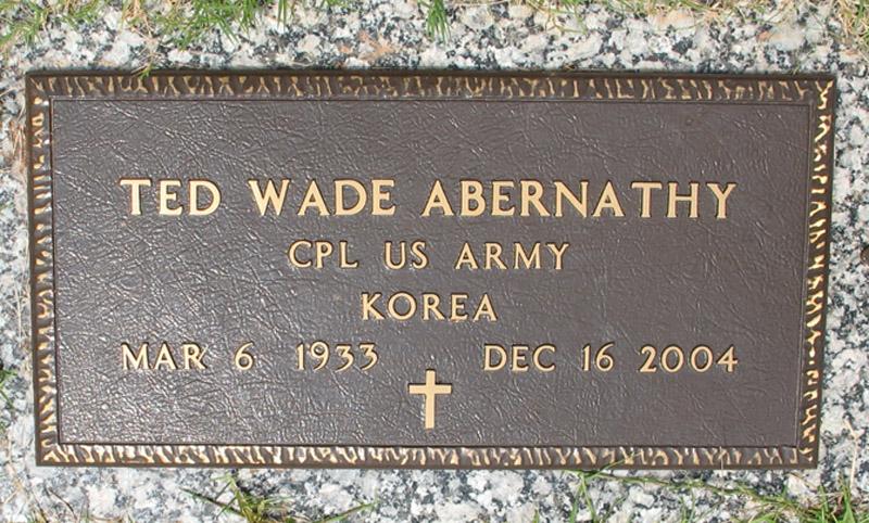 Theodore Wade Ted Abernathy