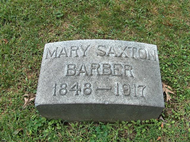 Mary <i>Saxton</i> Barber