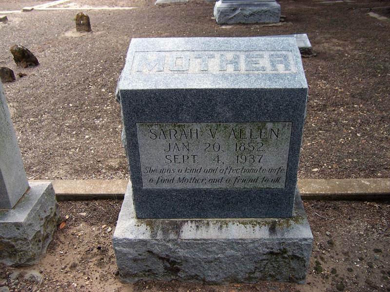 Sarah V. <i>Baker</i> Allen
