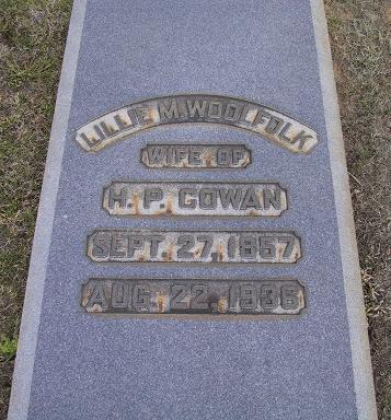 Lillie M. <i>Woolfolk</i> Cowan