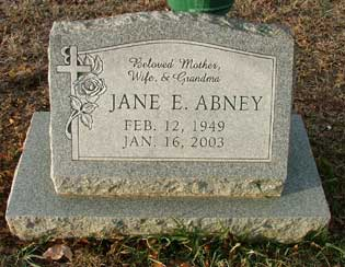 Jane Elizabeth <i>Logsdon</i> Abney