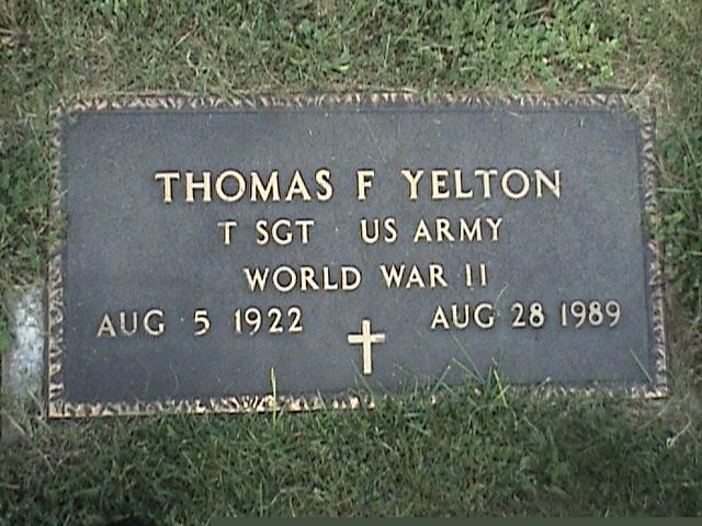 Sgt Thomas F. Yelton