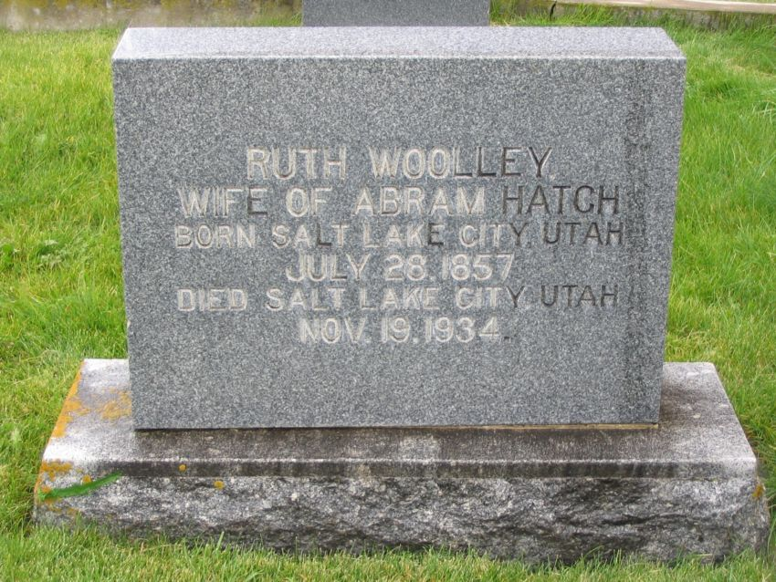 Ruth <i>Woolley</i> Hatch