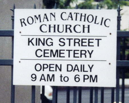 King Street Catholic Cemetery