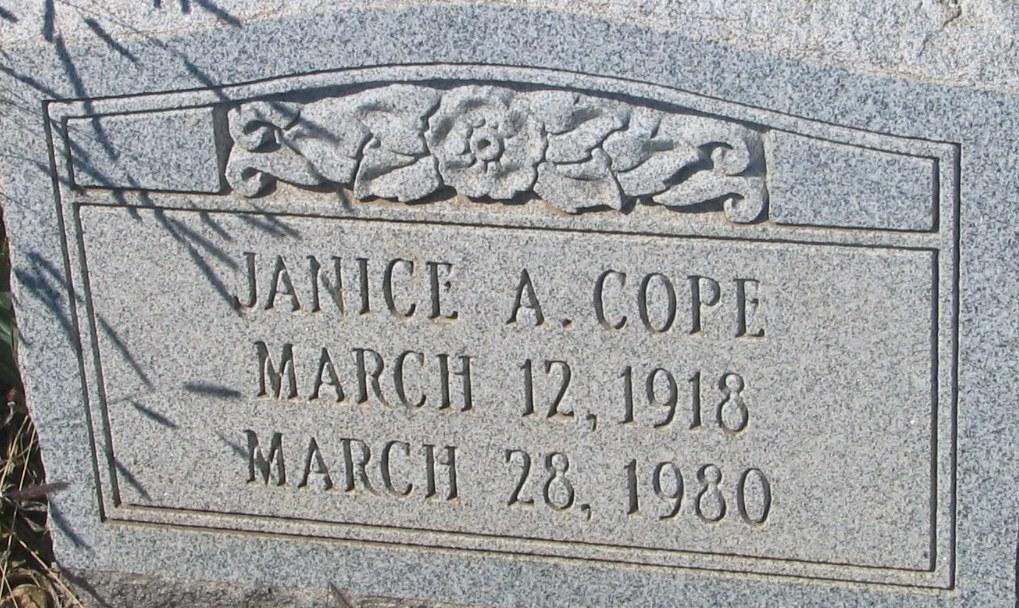 Janice A Cope