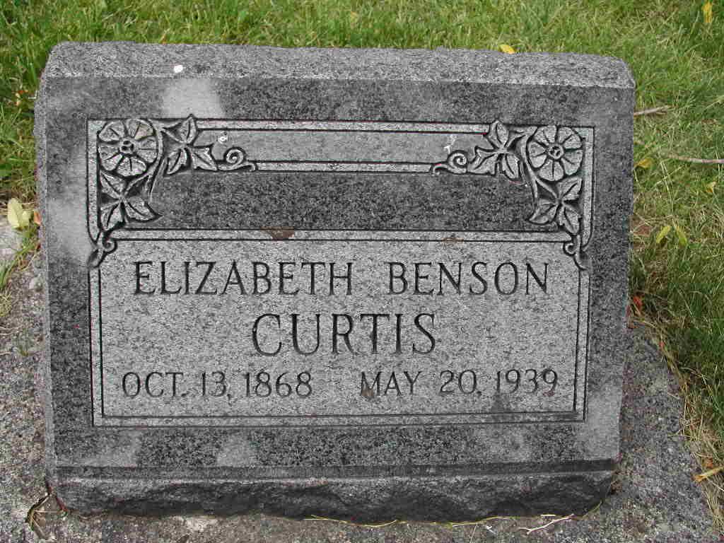 Elizabeth <i>Benson</i> Curtis