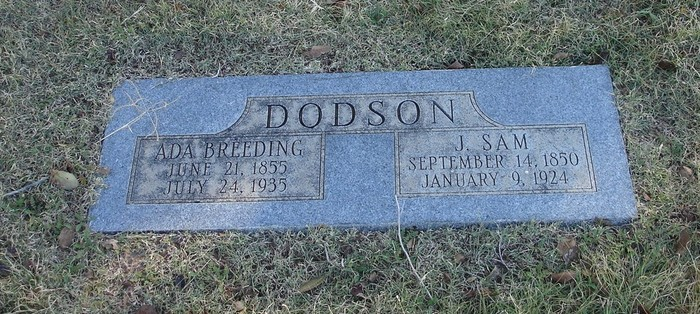 James Samuel Dodson 1850 1924 Find A Grave Memorial