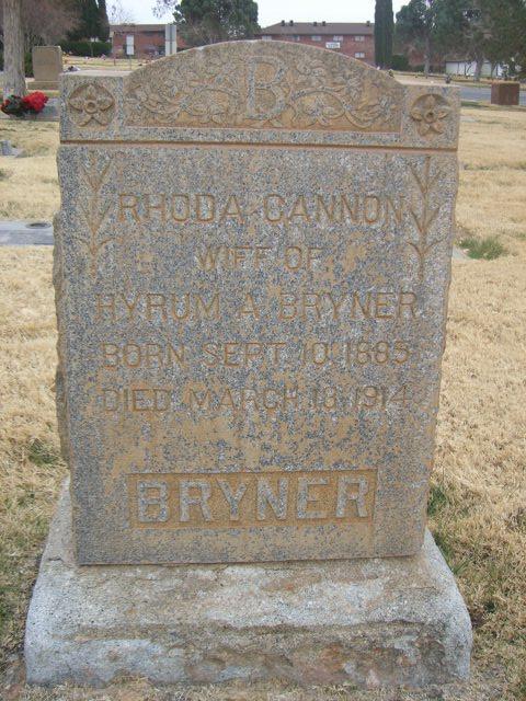 Rhoda <i>Cannon</i> Bryner