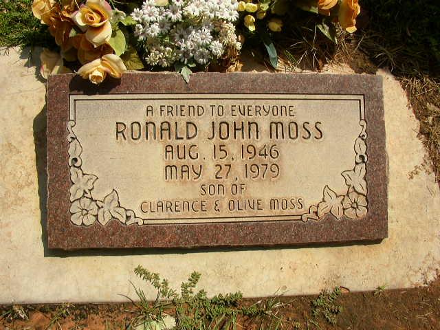 Ronald John Ronnie Moss