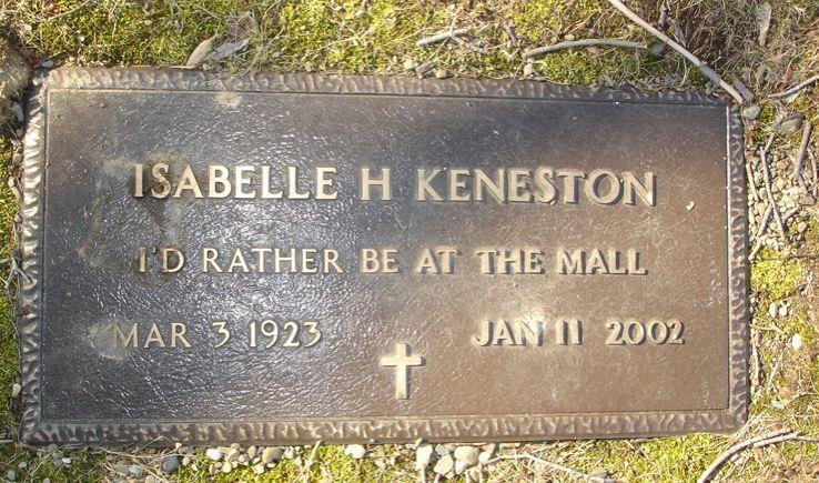 Isabelle Harriett <i>Cody</i> Keneston