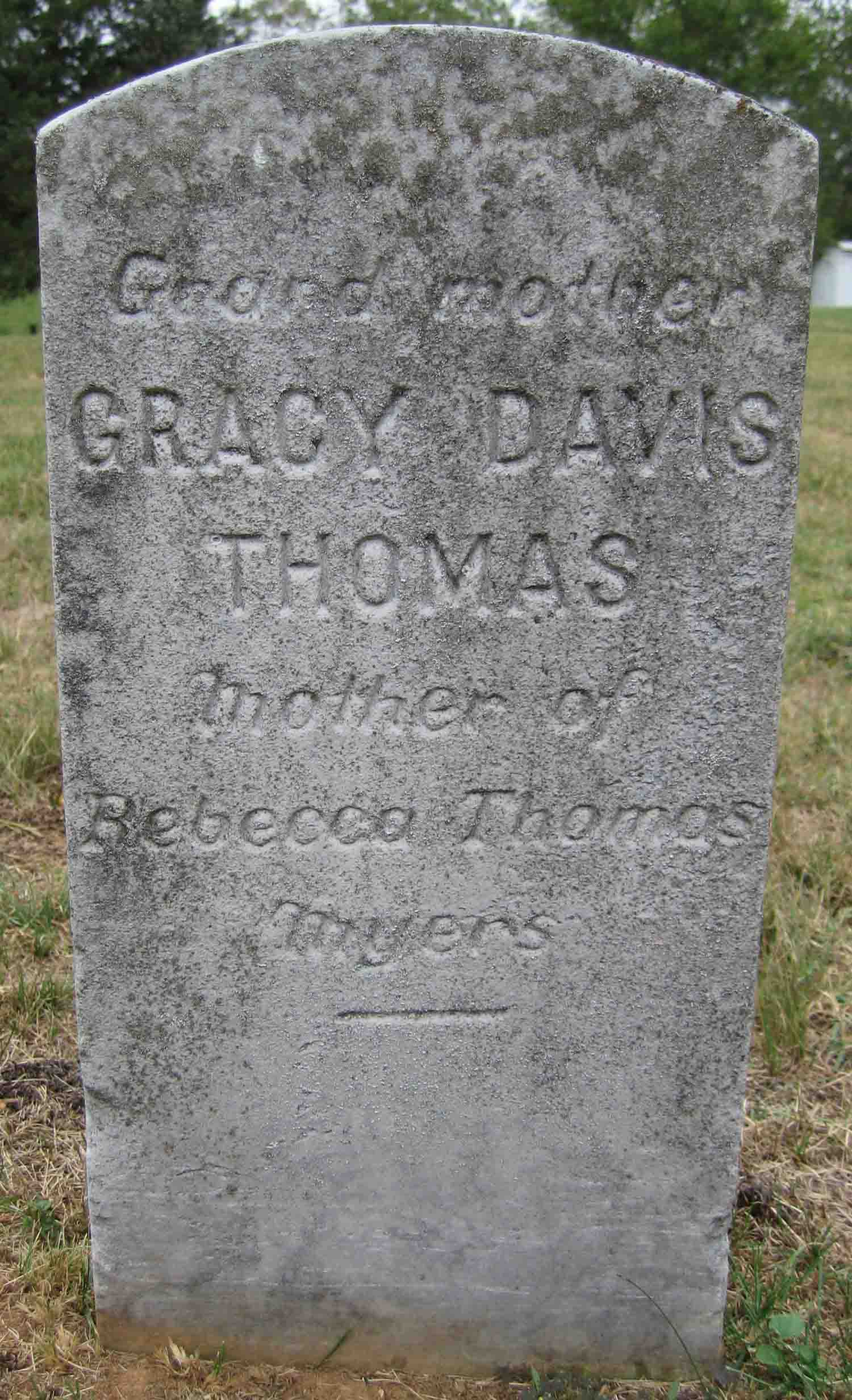 Gracy <i>Davis</i> Thomas