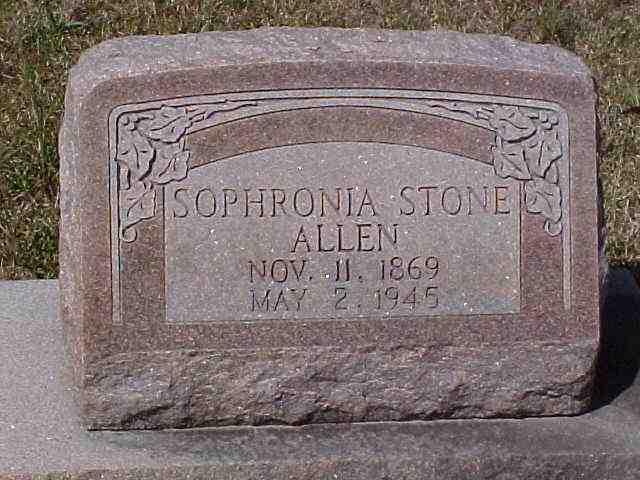 Sophronia Miles <i>Stone</i> Allen