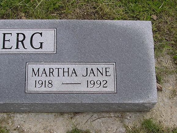 Martha Jane Dahlberg