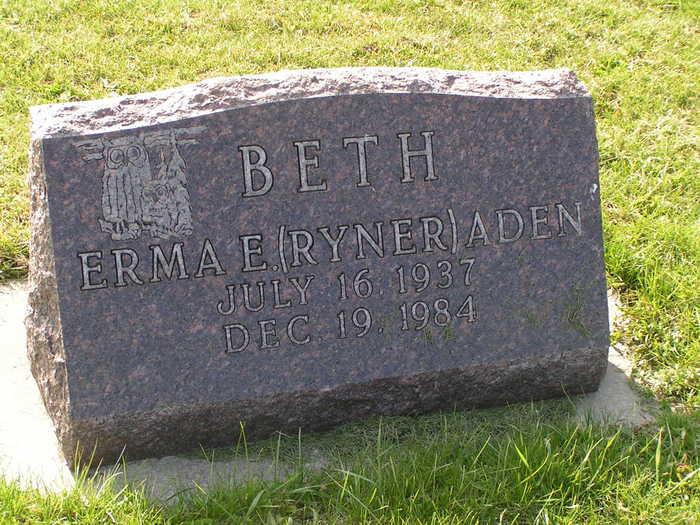 Erma E. Beth <i>Ryner</i> Aden