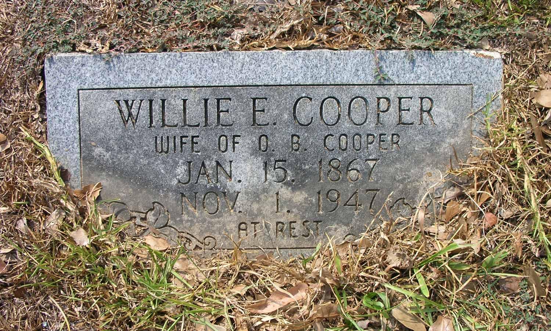 Willie E <i>Sandridge</i> Cooper