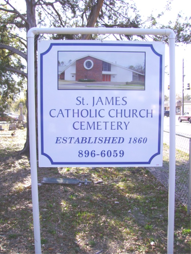 Saint James Catholic Church Cemetery In Gulfport Mississippi Find