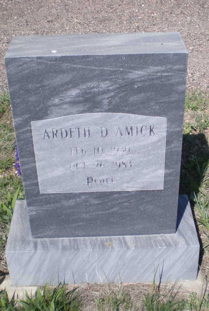 Ardeth D Amick