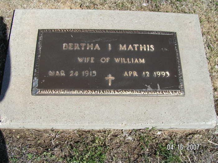 Bertha I. Mathis