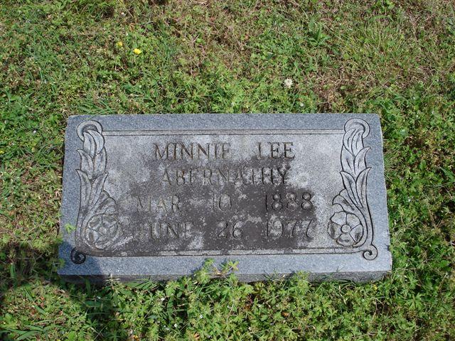 Minnie Lee Abernathy