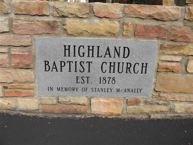 Highland Baptist Church Cemetery
