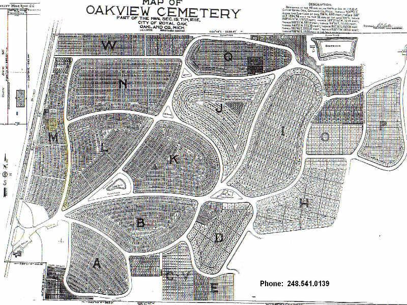Royal Oak Michigan Zip Code Map.Oakview Cemetery In Royal Oak Michigan Find A Grave Cemetery