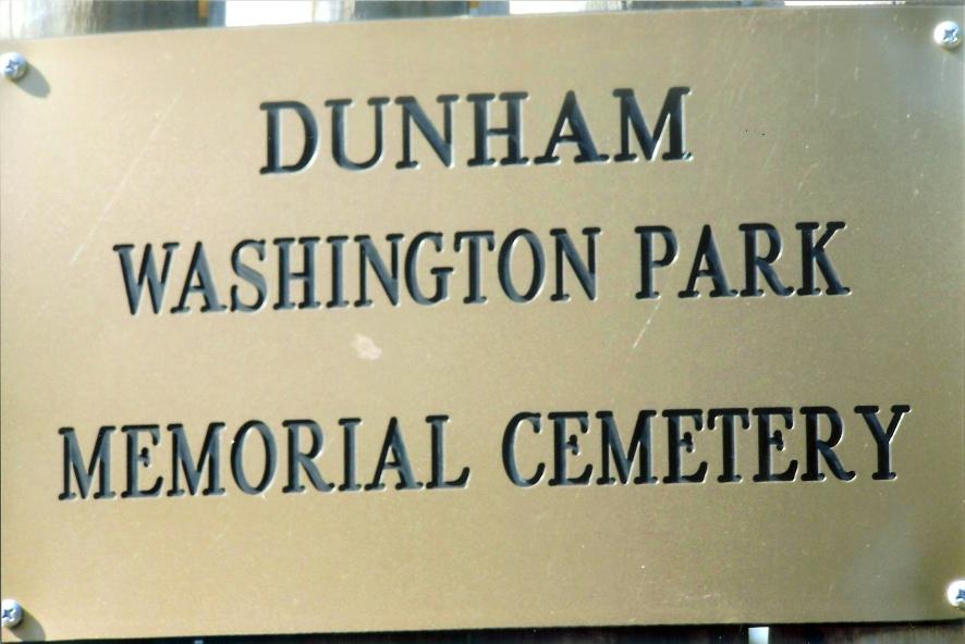 Dunham Washington Park Memorial Cemetery