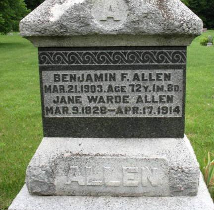 Jane <i>Warde</i> Allen