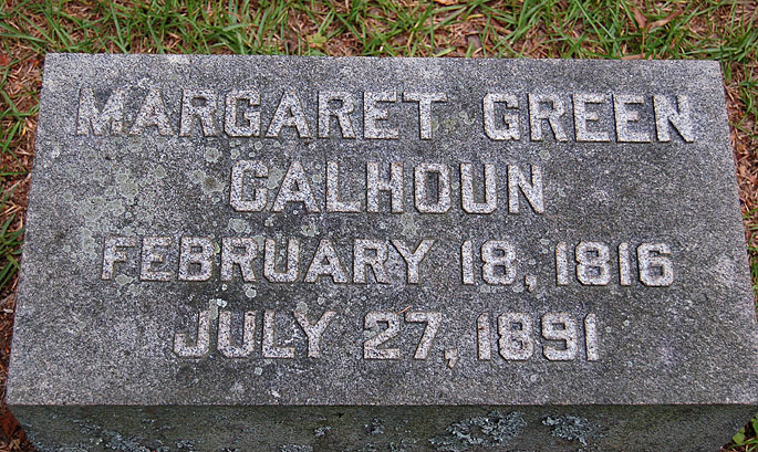 Margaret <i>Green</i> Calhoun